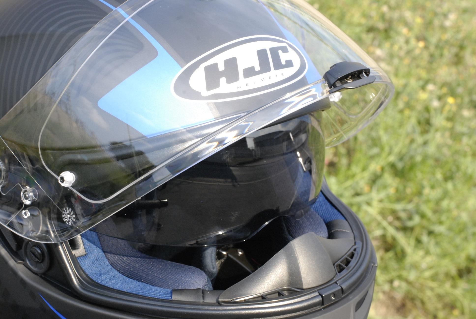 Casco moto HJC detalles
