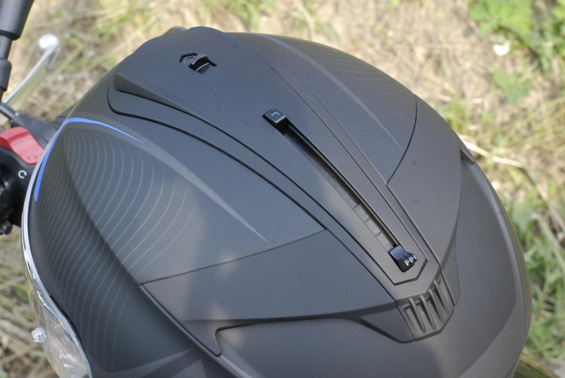 Casco moto pantalla solar HJC