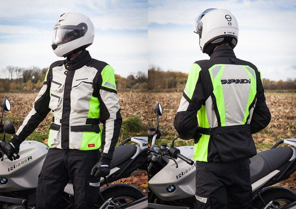 chaqueta moto refractantes spidi