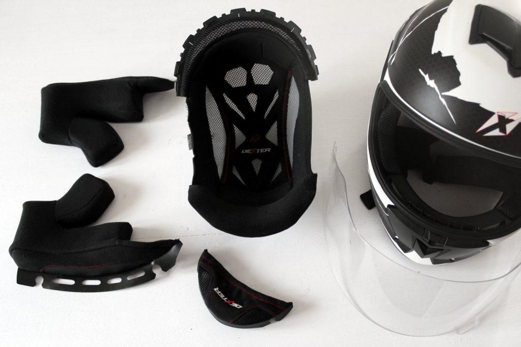 limpieza desmantelamiento casco motocicleta