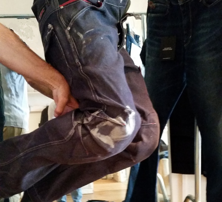 Pantalones vaqueros después caída