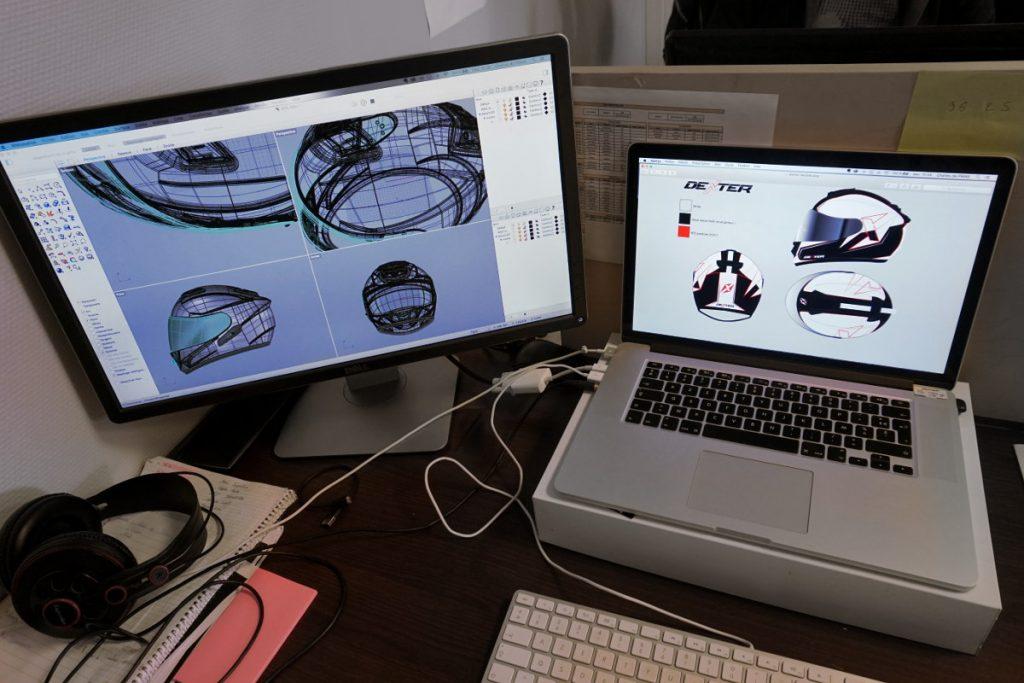 Una vista previa del trabajo en 3D en el ordenador