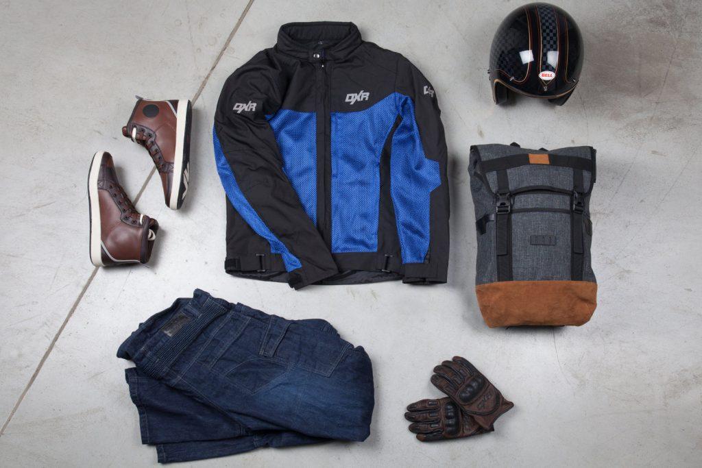 Mi equipo: zapatillas V Quattro Twin, chaqueta DXR ADD'Air, casco Bell Roland Sands, mochila vintage DXR, vaqueros DXR Denim Kevlar y guantes DXR Puncher