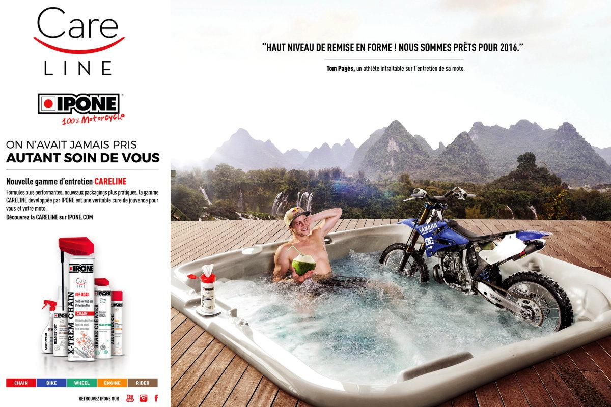 Publicidad para la CARELINE de IPONE con Tom Pagès