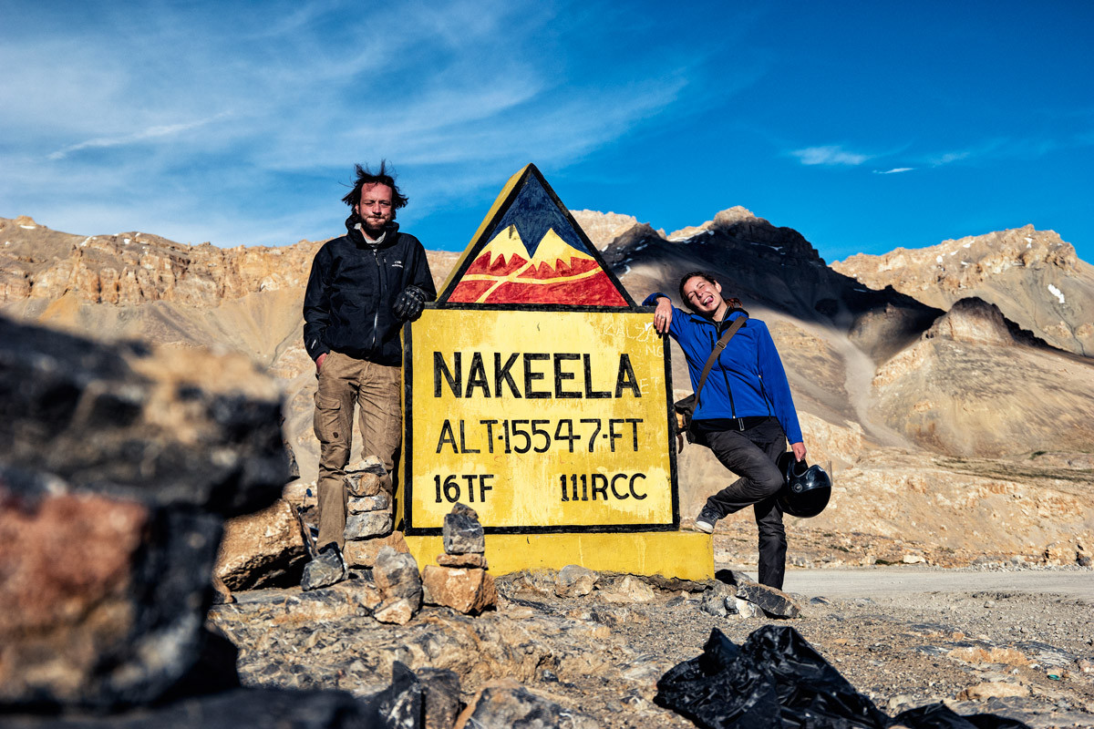 Benjamin y Mathilde el cuello Nakeela (4738 m)