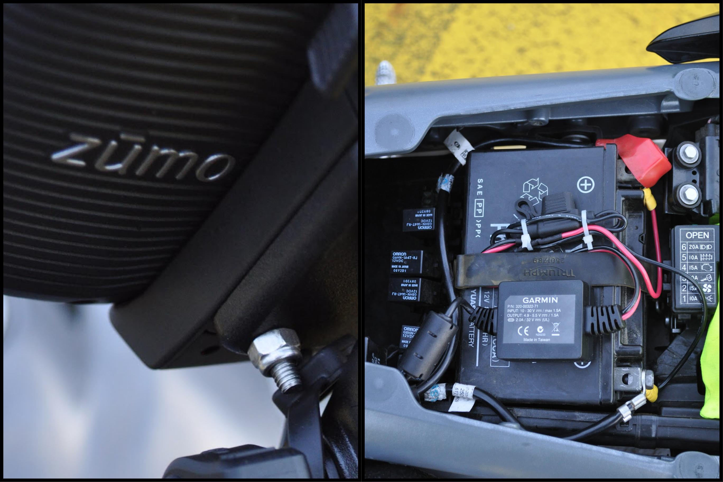 Detalle de la garra y la caja eléctrica de meter durante el montaje