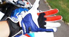 La piel de cabra lado de la palma proporciona flexibilidad y finura. Admirar la forma en que el rojo V hi ciclista especial!