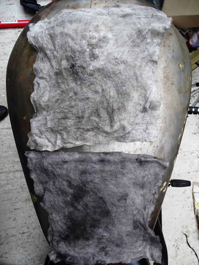 Después de un prelavado tradicional, utilicé dos toallitas Vulcanet