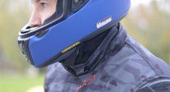 La barbillera incluida en el casco Shoei RYD es muy gruesa