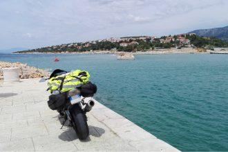 ZX6R Metzeler M7RR Croacia Viaje por carretera