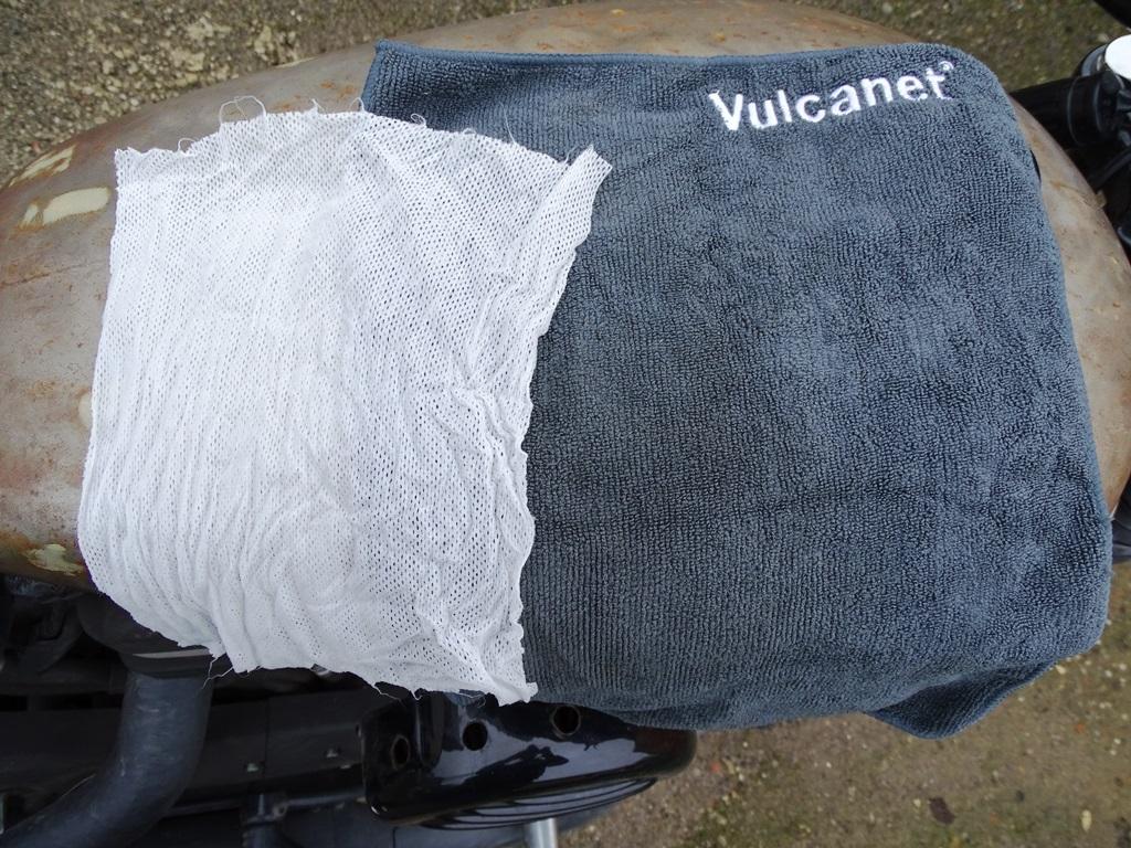 Una toallita y el trapo de microfibra