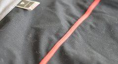 Zoom sobre la textura del interior de esta chaqueta térmica