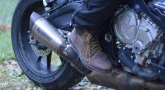 A punto de probar los zapatos Falco Patrol