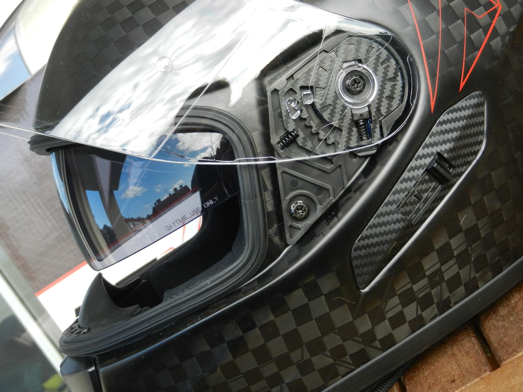 Vista de perfil, con la posición del Pinlock con respecto a la mirada