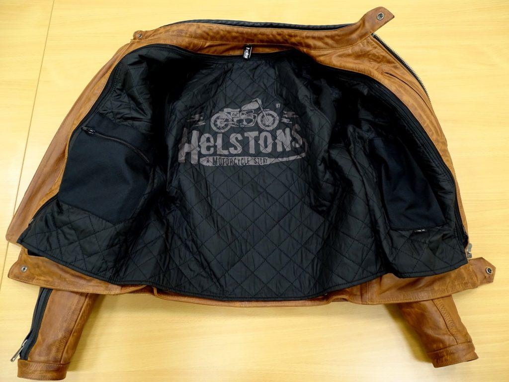 El forro térmico de la cazadora Helstons Randall contiene aluminio para ofrecer un aislamiento perfecto
